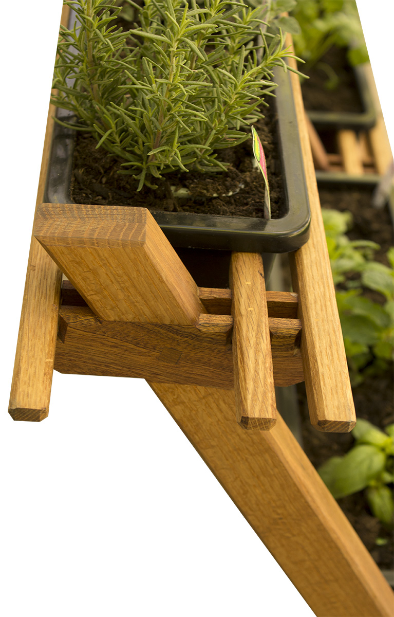 Japanese inspired herb garden
