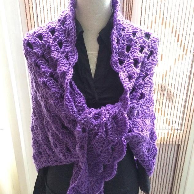 Paarse shawl 2