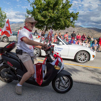 Canada Day with Keith Thom scootin around!