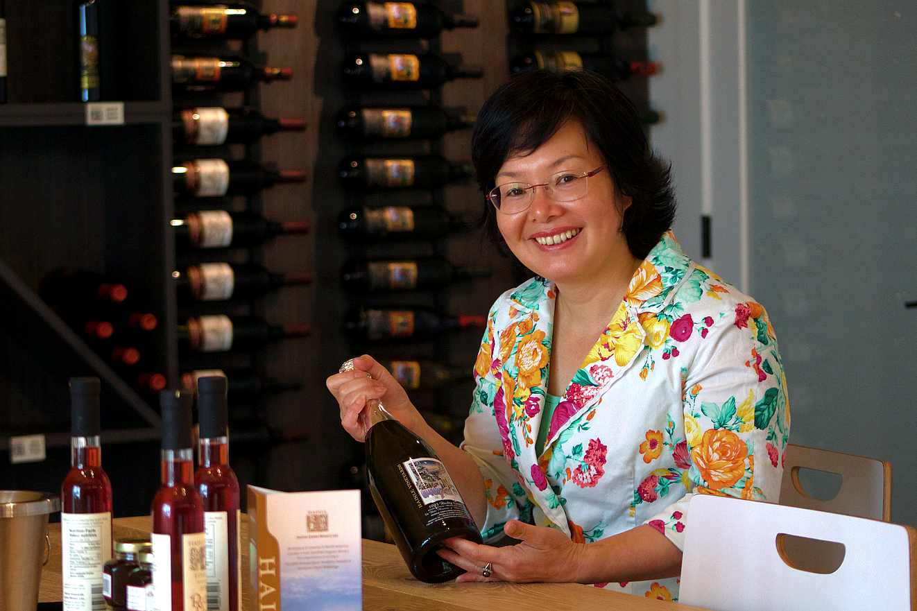 Bella Huang - Driector, Hainle Vineyards Estate Winery