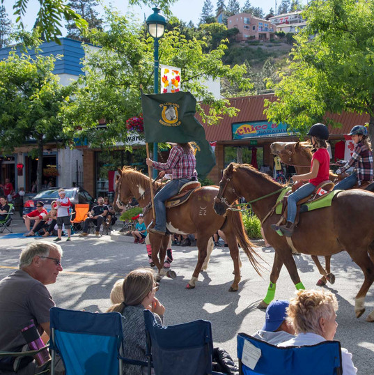 Canada Day trots with the Peachland Riding Club