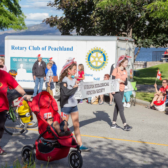 Canada Day celebrations with BEEPS and the Peachland Bats!
