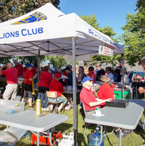 Canada Day Peachland Lions Club serving up some great food!