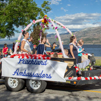 Canada Day waving with the Peachland Ambassadors