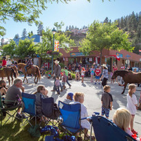 Canada Day stroll with the Peachland Riding Club