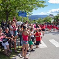 Canada Day crowd loving the parade!
