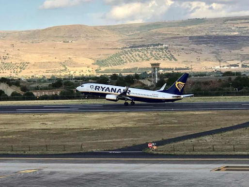 Milan, Pisa, Brussels and Frankfurt: Ryanair announces resumption of flights to Comiso (Sicily)