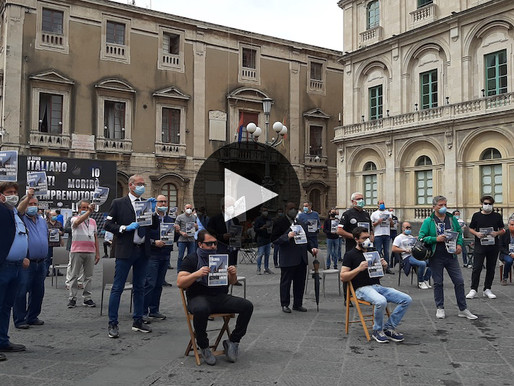 Catania, the protest of Confcommercio: «Stop to INPS contributions for 2020»
