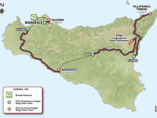 """""""Giro d'Italia"""", in October Great Start from Sicily: one time trial and three stages on the island"""