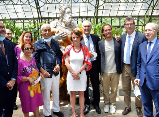 """Palermo has a new """"Genius"""", the statue by Domenico Pellegrino donated to the Botanical Garden"""
