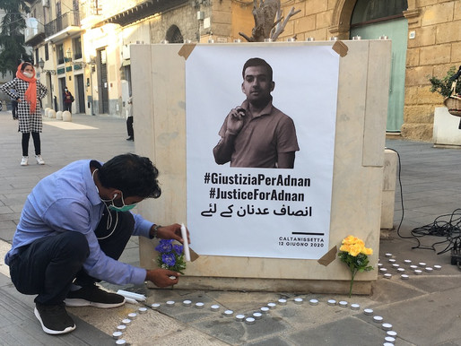 Caltanissetta, 500 people demonstrating to demand justice for Adan Siddique (VIDEO)