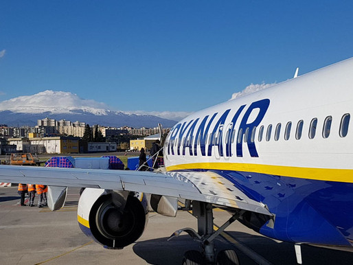Ryanair, ready to restart flights on 25 connections to and from Catania