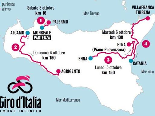 Giro d'Italia, la Regione Siciliana storna 4 ml dal Patto per il Sud per riqualificare le strade