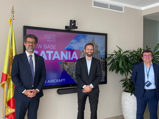Wizz Air opens a new base in Catania and launches 5 more routes on the Etna airport