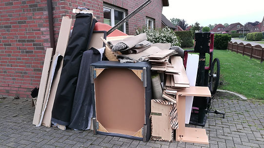 Bulky waste on the street is waiting for