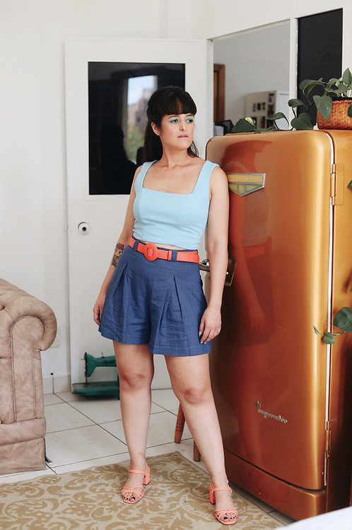 Shorts Caminhos Azul
