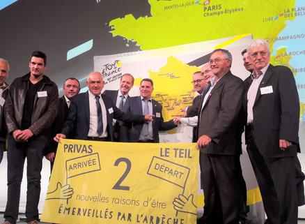 Le Tour de France fera étape à Privas en 2020
