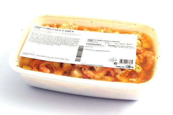 Marinade de Gambas et de Noix de Saint-Jacques au Citron 1,7kg
