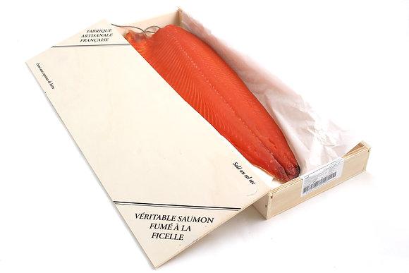 Saumon Fumé Ficelle à l'Ancienne Écossais Tranché Main 1.8kg/+