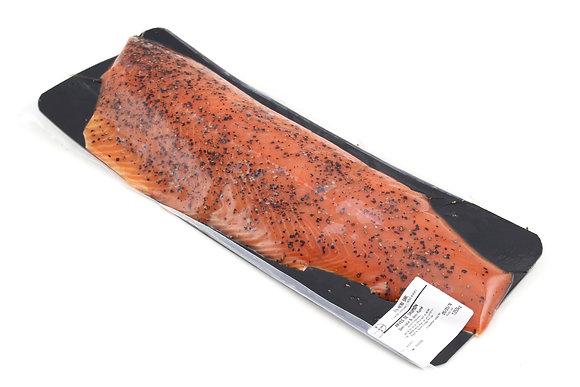 Pavé de Saumon Cru Fumé Norvégien Mariné au Poivre 600g/+