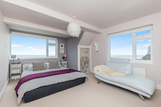 The stuff of dreams: the main bedroom with dual aspect views, ensuite bathroom and separate walk-in closet