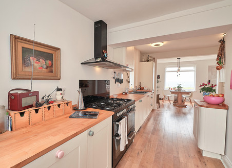 Fancy a dance in the spacious + bright kitchen diner?