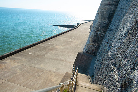 Come take a stroll along the undercliff walkway...