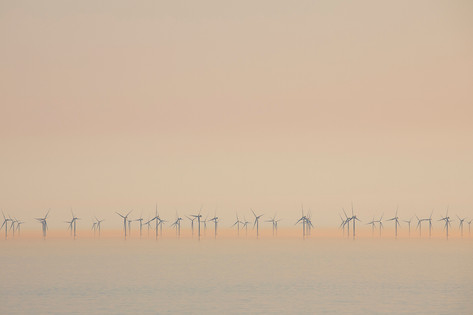 Incredible calm flows from the Rampion wind farm (view from the house)