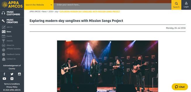 APRA AMCOS website content