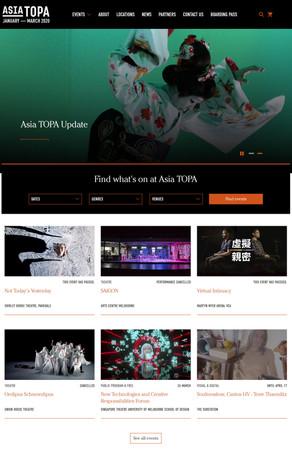 Asia TOPA 2020 website