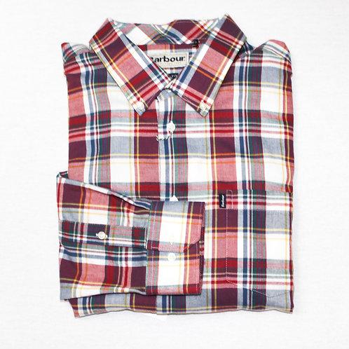 Barbour XL Red Plaid Long Sleeve Sport Shirt
