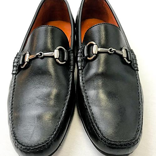 Peter Millar Black Loafers w/Horsebit Buckle Size 9