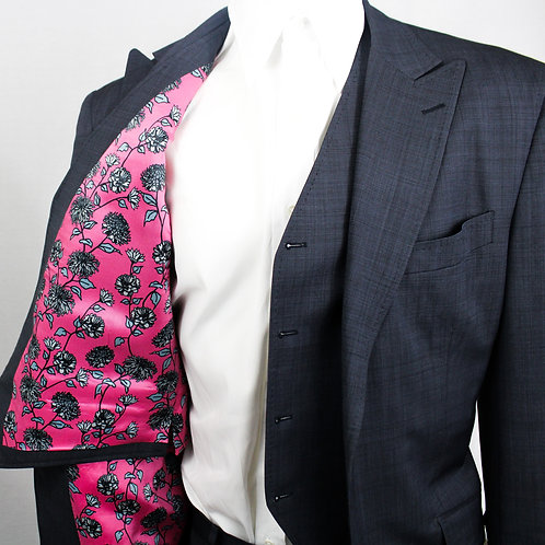 Custom Suit with Floral Lining