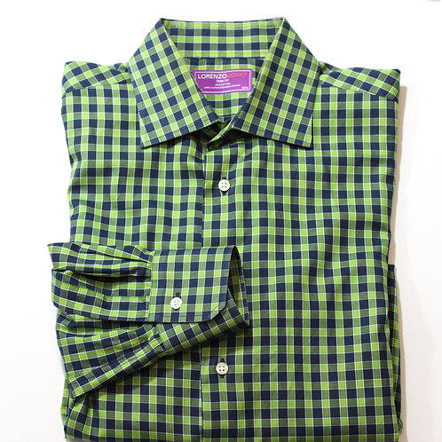 Lorenzo Uomo Trim Fit Gingham Plaid Shirt Medium