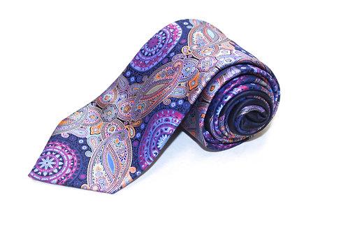 Ermenegildo Zegna Navy Paisley Necktie