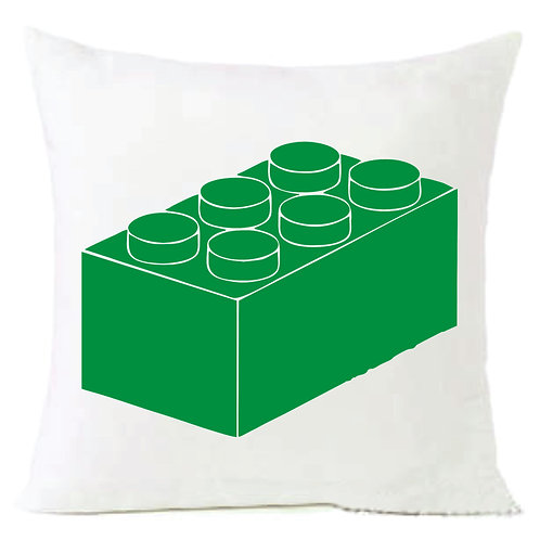 Green Lego Block Cushion Decorative Pillow - 40cm