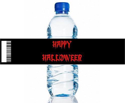 Happy Halloween Water Bottles Stickers - 6 pcs set