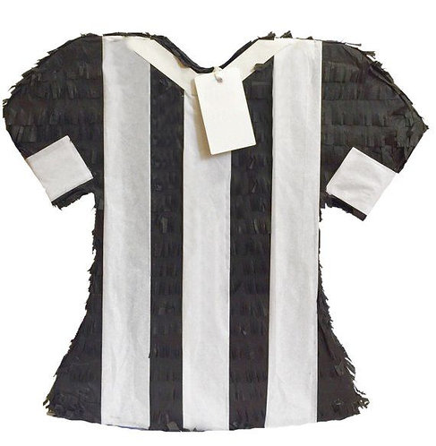 Football Soccer Referee T Shirt Birthday Party Pull Strings Pinata - 40 cm