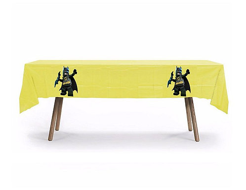 Batman Lego Plastic Table Cover with Stickers - 140 cm x 275 cm