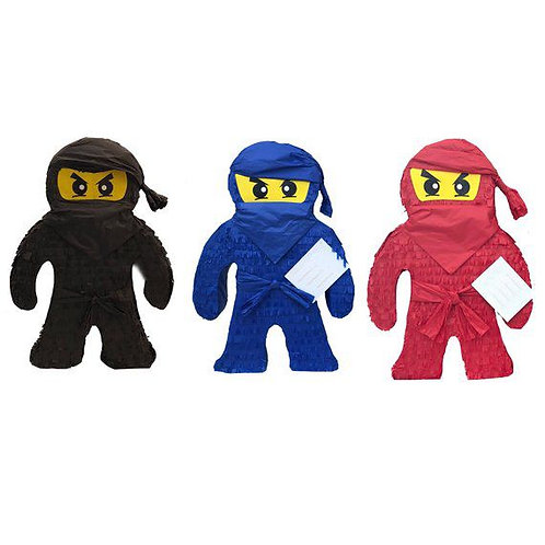 Ninjago Lego Shapes Birthday Party Pull Strings Pinata - 40cm