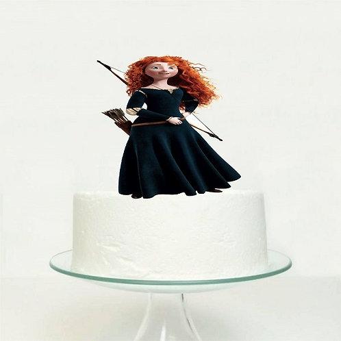 Princess Merida Big Topper for Cake - 1 pcs set