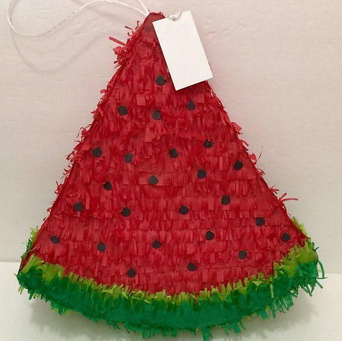Red Watermelon Birthday Party Pull Strings Pinata Round - 40cm