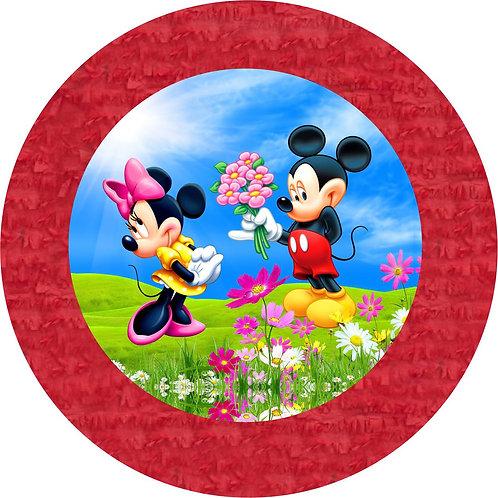 Mickey  Minnie Party Pull Strings Pinata - 35cm