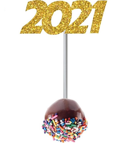 2021 NEW YEAR Cakepops Toppers - 12 pcs set