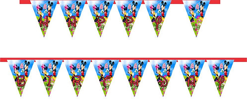 Mickey Minnie HAPPY BIRTHDAY Banner