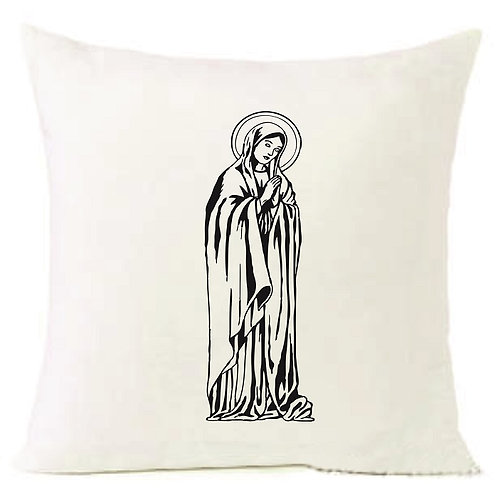 Christmas Virgen Mary Cushion Decorative Pillow COTTON OR LINEN -40cm