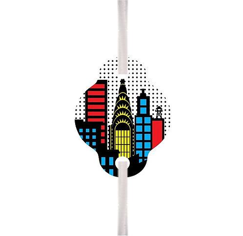 Superheroes Straws - 6 pcs set