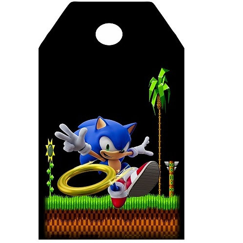 Sonic Game Gifts Tags - 12 pcs set