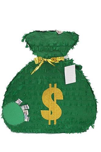 Money Bag Party Pull Strings Pinata - 40cm