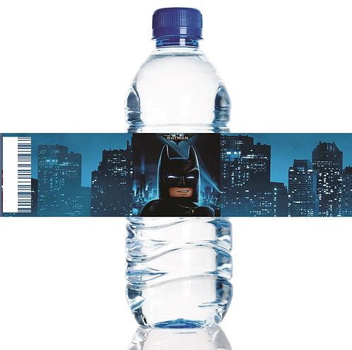 Batman Lego Water Bottles Stickers - 6 pcs set